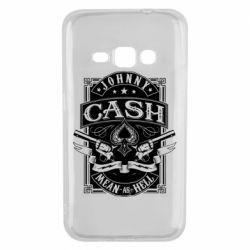 Чохол для Samsung J1 2016 Johnny cash mean as hell