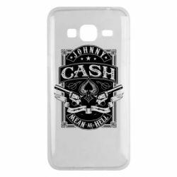 Чохол для Samsung J3 2016 Johnny cash mean as hell
