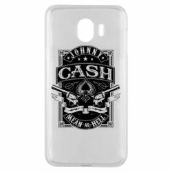 Чохол для Samsung J4 Johnny cash mean as hell