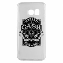 Чохол для Samsung S6 EDGE Johnny cash mean as hell