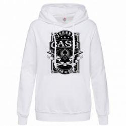 Толстовка жіноча Johnny cash mean as hell