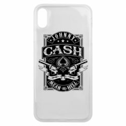 Чохол для iPhone Xs Max Johnny cash mean as hell
