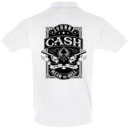 Футболка Поло Johnny cash mean as hell