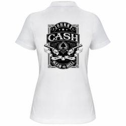 Жіноча футболка поло Johnny cash mean as hell