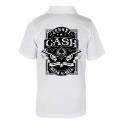 Дитяча футболка поло Johnny cash mean as hell