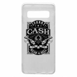 Чохол для Samsung S10 Johnny cash mean as hell