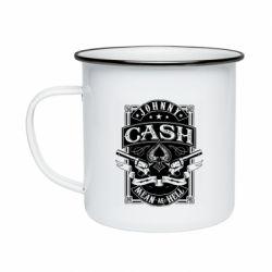 Кружка емальована Johnny cash mean as hell