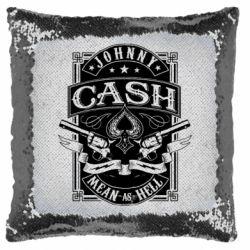 Подушка-хамелеон Johnny cash mean as hell