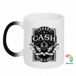 Кружка-хамелеон Johnny cash mean as hell