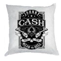 Подушка Johnny cash mean as hell