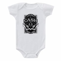 Дитячий бодік Johnny cash mean as hell
