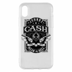 Чохол для iPhone X/Xs Johnny cash mean as hell