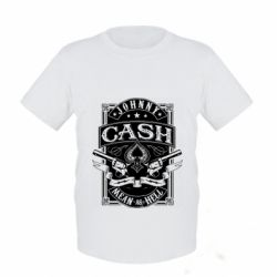 Дитяча футболка Johnny cash mean as hell