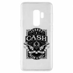 Чохол для Samsung S9+ Johnny cash mean as hell