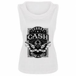 Майка жіноча Johnny cash mean as hell