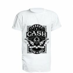 Подовжена футболка Johnny cash mean as hell