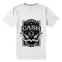 Чоловіча стрейчева футболка Johnny cash mean as hell