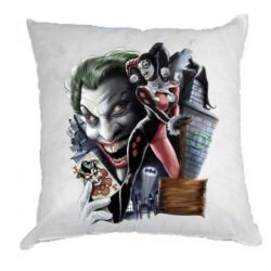 Подушка Joker, Batman, Harley Quinn