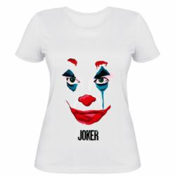 Женская футболка Joker face
