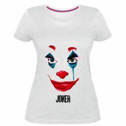 Женская стрейчевая футболка Joker face