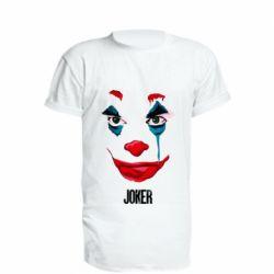 Удлиненная футболка Joker face