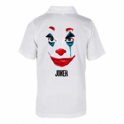 Детская футболка поло Joker face