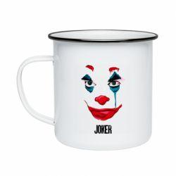 Кружка эмалированная Joker face