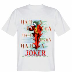 Мужская футболка Joker ha ha ha put on happy face