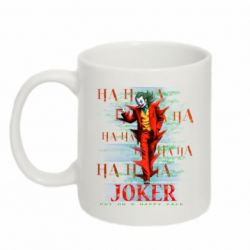 Кружка 320ml Joker ha ha ha put on happy face