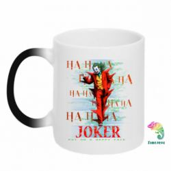 Кружка-хамелеон Joker ha ha ha put on happy face