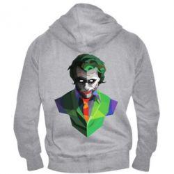 Чоловіча толстовка на блискавці Joker Poly Art