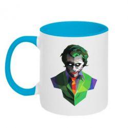Кружка двухцветная Joker Poly Art