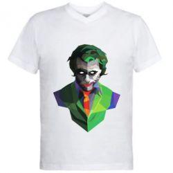 Чоловіча футболка з V-подібним вирізом Joker Poly Art