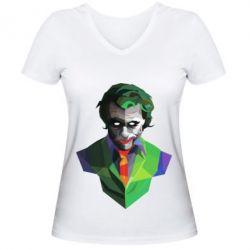 Женская футболка с V-образным вырезом Joker Poly Art