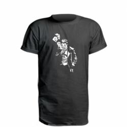 Удлиненная футболка Joker smokes and smiles