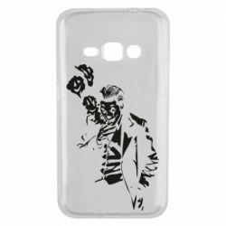 Чехол для Samsung J1 2016 Joker smokes and smiles