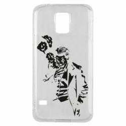 Чехол для Samsung S5 Joker smokes and smiles