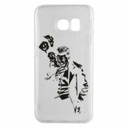 Чехол для Samsung S6 EDGE Joker smokes and smiles