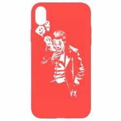 Чехол для iPhone XR Joker smokes and smiles