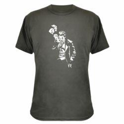 Камуфляжная футболка Joker smokes and smiles
