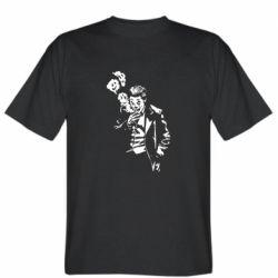 Мужская футболка Joker smokes and smiles