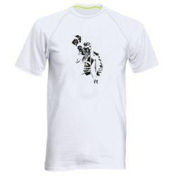 Мужская спортивная футболка Joker smokes and smiles