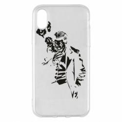 Чехол для iPhone X/Xs Joker smokes and smiles