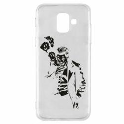 Чехол для Samsung A6 2018 Joker smokes and smiles