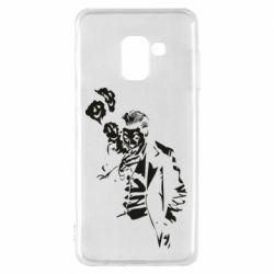 Чехол для Samsung A8 2018 Joker smokes and smiles