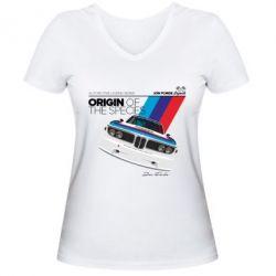Женская футболка с V-образным вырезом Jon Forde Legends