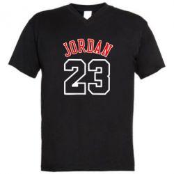 Мужская футболка  с V-образным вырезом Jordan 23 - FatLine