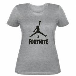 Женская футболка JORDAN FORTNITE