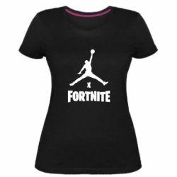 Женская стрейчевая футболка JORDAN FORTNITE