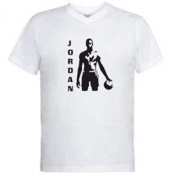 Мужская футболка  с V-образным вырезом Jordan - FatLine